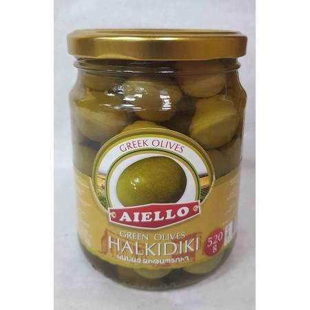 """Зеленые оливки """"AIELLO"""" - купить с доставкой в Домодедово"""